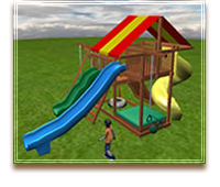 Design a swing set online for Design your own playground online