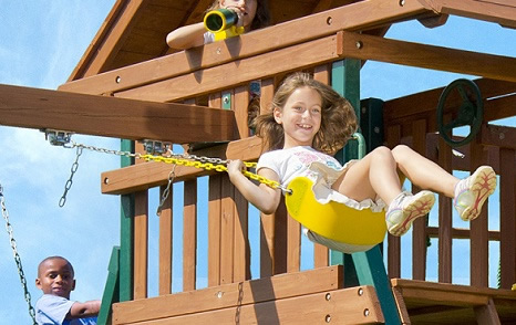 Swinging on a Swing Set Calms the Mind of Children