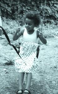 Swinging on a swing set helps kids relax