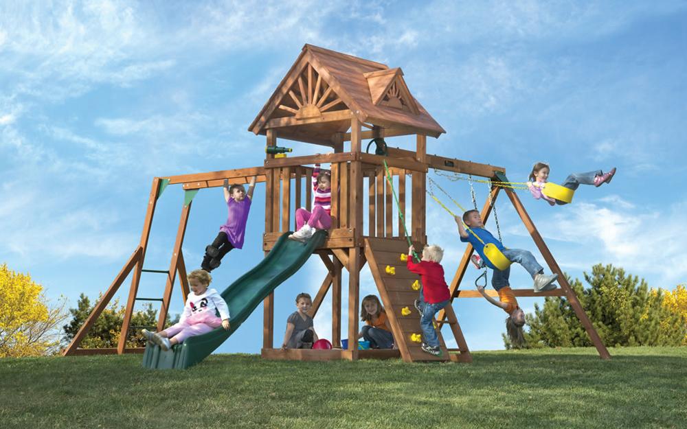 Comparing Kid 39 S Creations Cedar Redwood Swing Sets