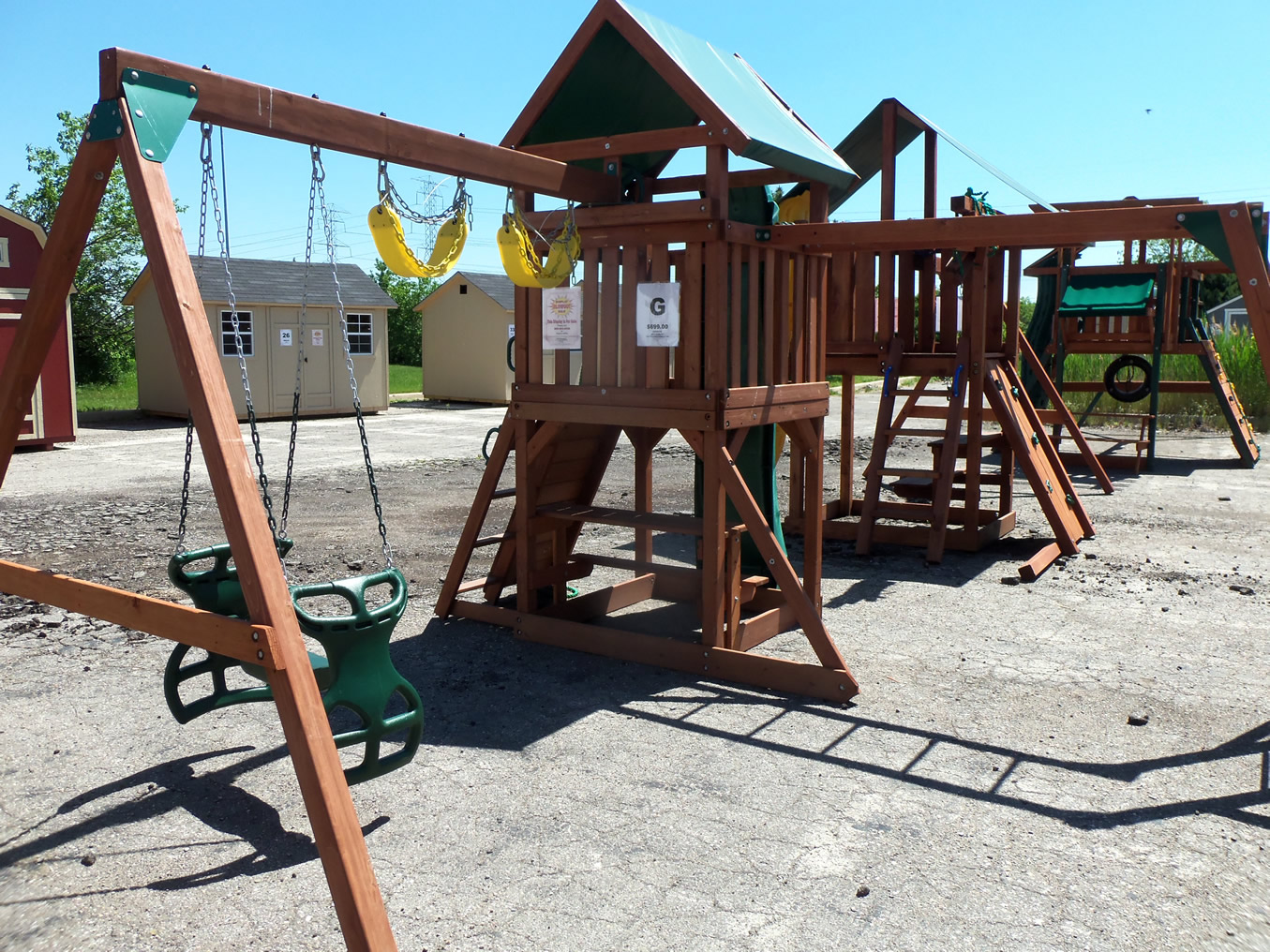 backyard adventures wooden playsets swing sets in michigan on sale
