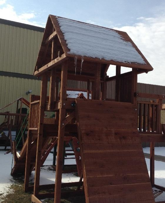 winter play sets snow fort
