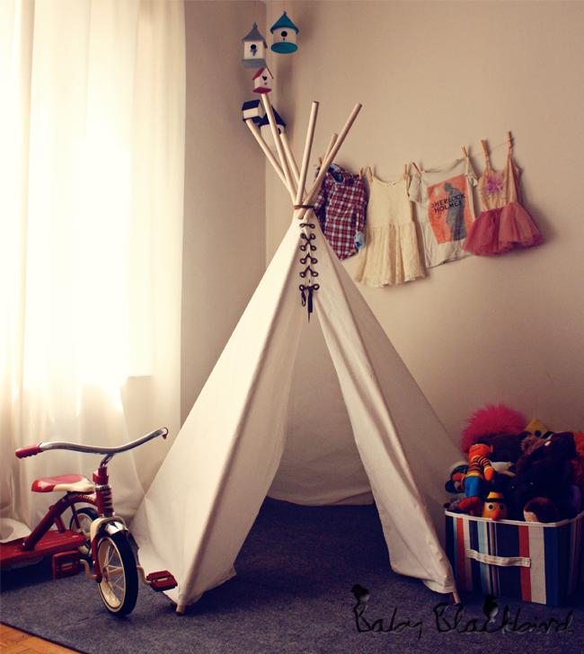 DIY teepee kids
