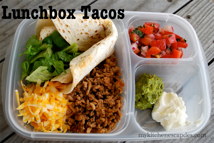 lunch box tacos for kids lunches