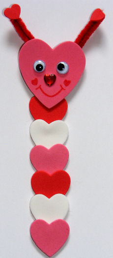 loveworm bookmark idea