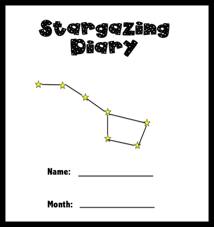 15 Cool Stargazing Activities for Kids – Constellations Worksheets