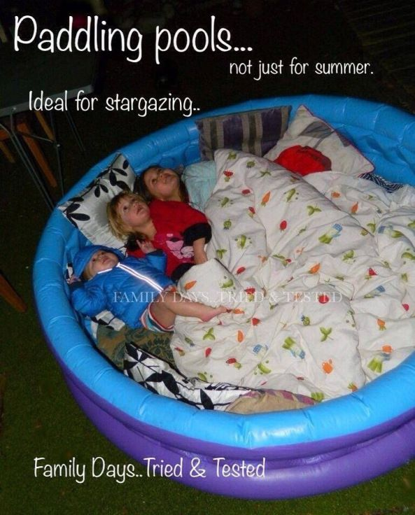 stargazing ideas sit in pool
