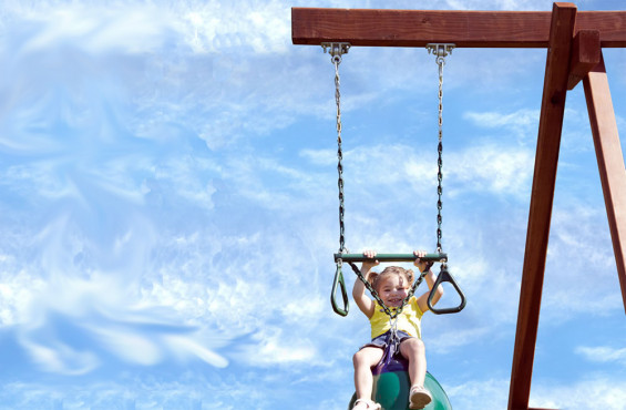 Our trapeze bar & buoy ball combo gives kids swinging options making play time more interesting.