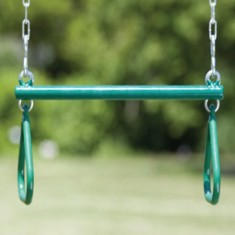Trapeze bar for swing sets