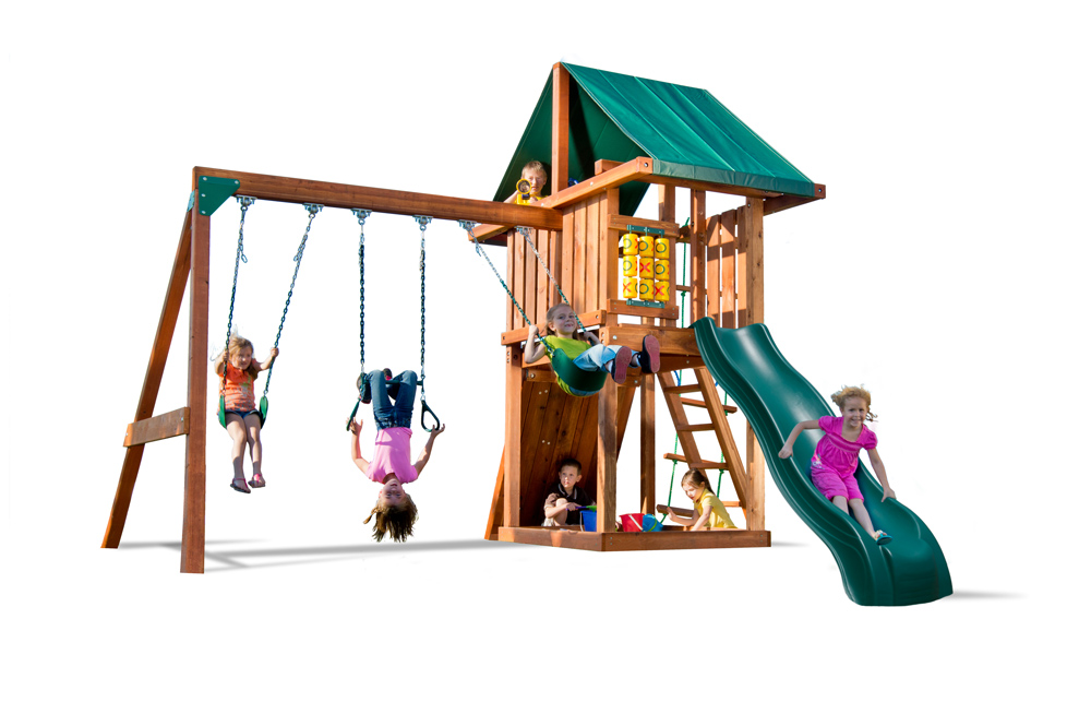 Hand-crafted with 100% California redwood, the Circus will provide a safe, sturdy play structure while providing complete resistance against the elements.