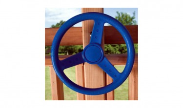 Blue swing set steering wheel
