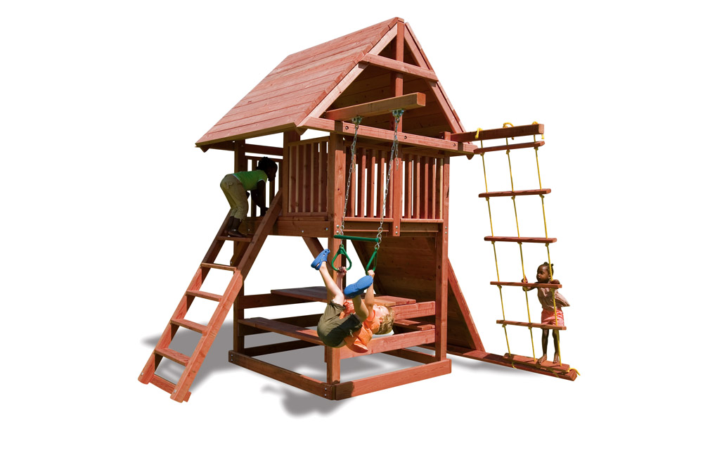 Juggling Act Small Swing Set For Smaller Backyards Kids