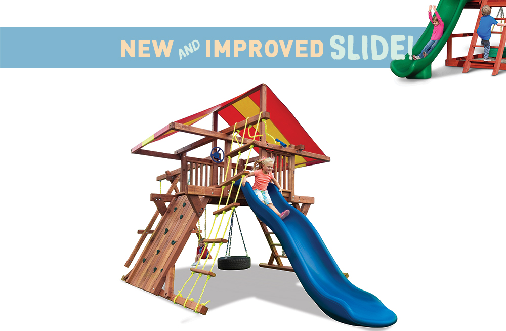 Pot O\' Gold Kids Outdoor Playsets with Swings and Slide | Kids Creations