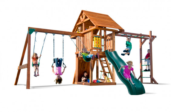 If you're looking for the most adventure, curb appeal and value, the Circus Deluxe playset with monkey bars is the right choice.