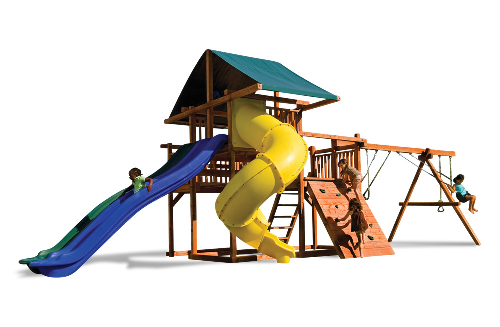 our swings have a safe weight limit of 250 lbs per swing so your child can