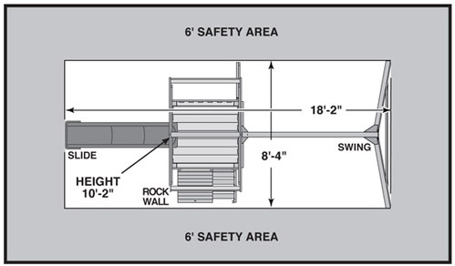 High Flyer Swing Set Safety Zone