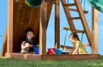 After many hours of continuous play, the sandbox will provide a place to cool off under the shade while they let their imagination wander.