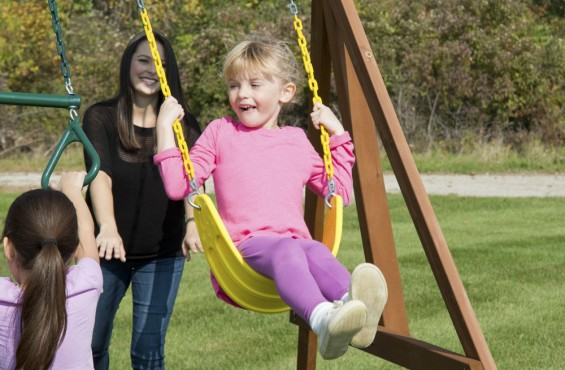 Our swings can hold up to 250 lbs so your kids can play safely.