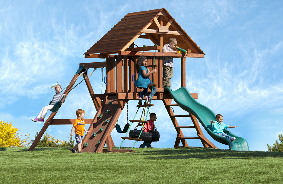 high quality wooden swing sets two ring deluxe. Black Bedroom Furniture Sets. Home Design Ideas