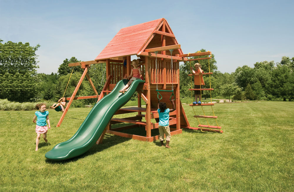 Opening Star Outdoor Playset With Swings Amp Picnic Table