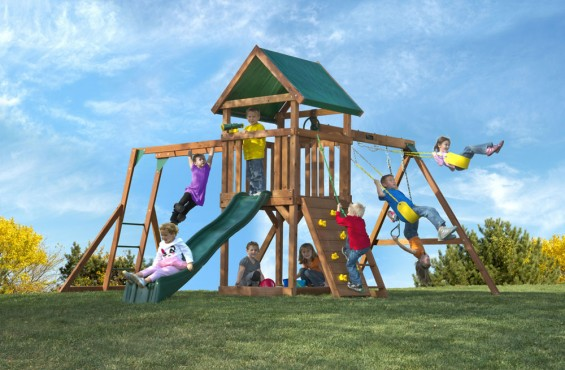 When it comes to adventure, imagination and value, the High Flyer swing set is the right choice for your family.