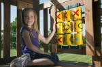 Tic tac toe game board with spinner panel will bring children together to play one of the most popular games in the world.