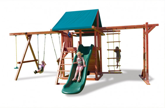 All our play sets and accessories meets or exceeds ASTM safety standards and our swings have plastisol coating to protect kids' little fingers from getting pinched by the chains.