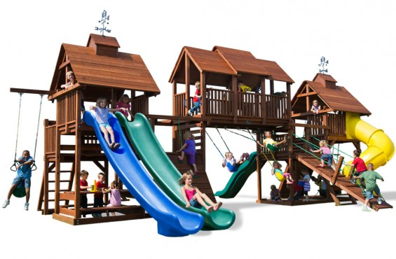 Recessed hardware and sanded edges will keep your kids free from scrapes and cuts. Our play set also meets and/or exceeds ATSM safety standards so kids can play worry free.