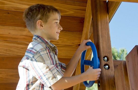 With the steering wheel, children can steer their imagination in just about any direction.