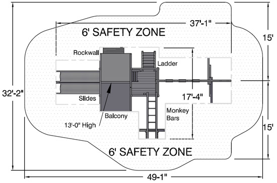Main Attraction backyard safety zone