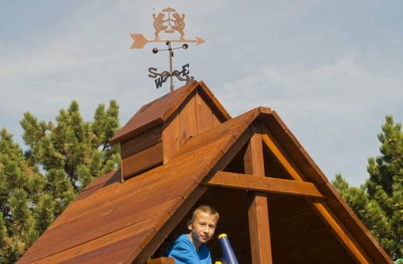 Deluxe Wood Roof w/ Cupola & Weathervane