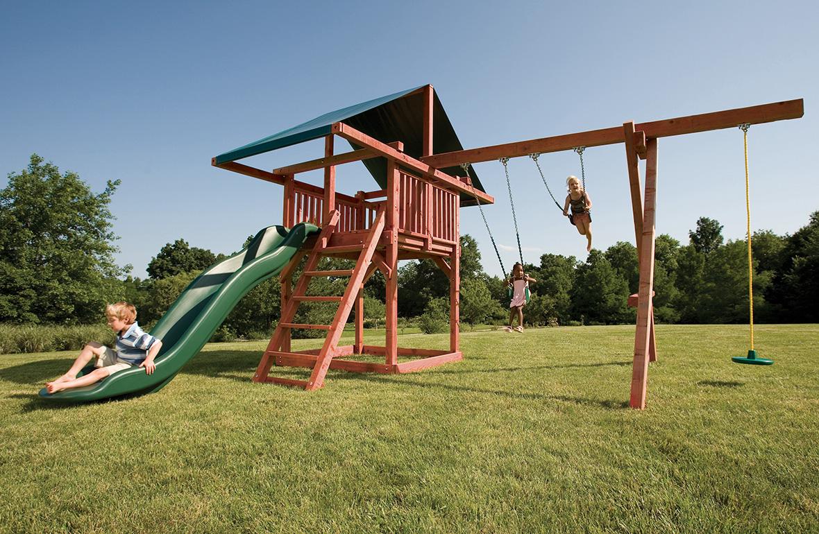 Wood Swingsets for Kids