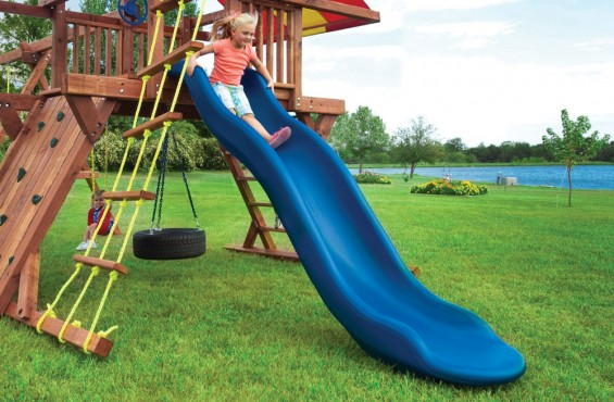 Our slide is made from heavy-duty plastic to safely support kids & stay durable through the seasons.