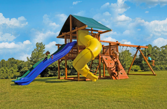 Two different slides add versatility & engagement to your play set.