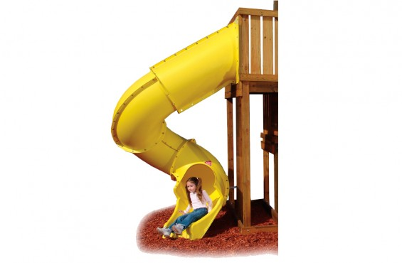 Yellow 7ft. Tube Slide