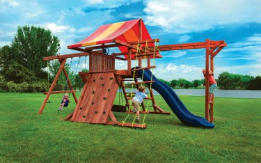 High quality outdoor play structures with monkey bars