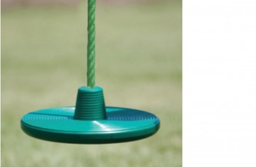 This disc rope swing will add an extra twist to any swing set.