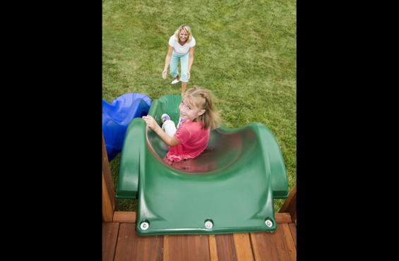 Heavy-duty plastic makes our slides durable to withstand the elements.