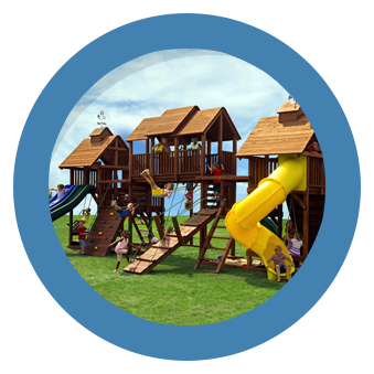 wood playground sets