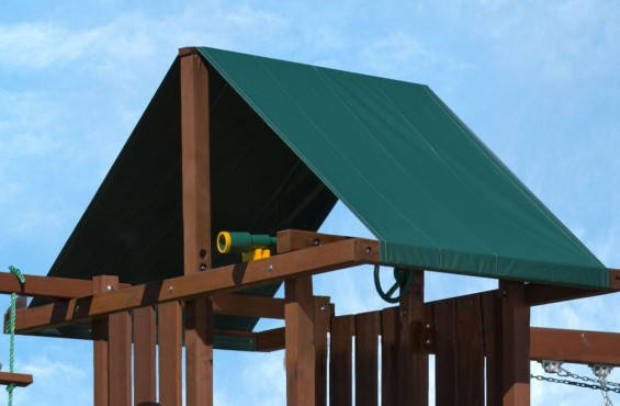 The heavy duty canopy protects your play set from sun damage and provides needed shade for kids on play decks.