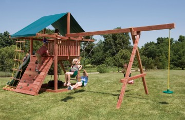 Hand-crafted wood swing sets with 4 swings!