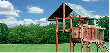 Click here to Select a Double Tower swing set with Balcony